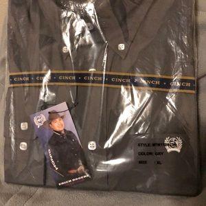 Cinch Shirts - Brand new men's cinch shirt grey XL